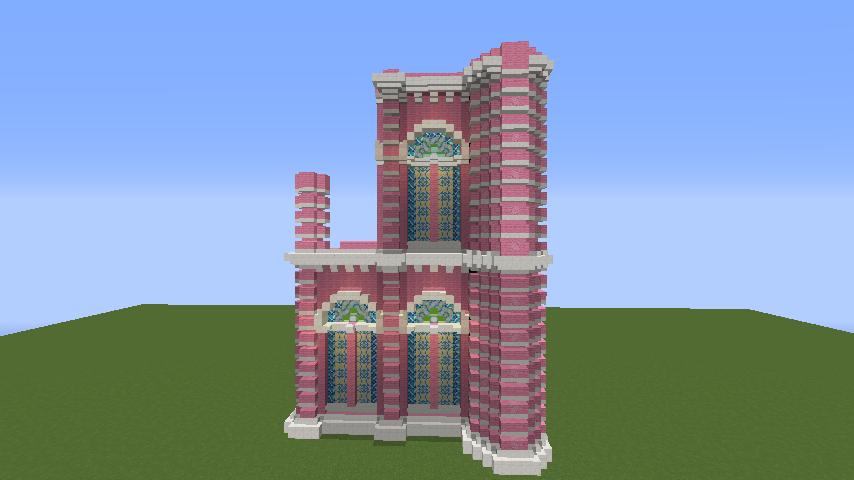 Minecrafterししゃもがマインクラフトでぷっこ村にタンディン教会を再現してみる2