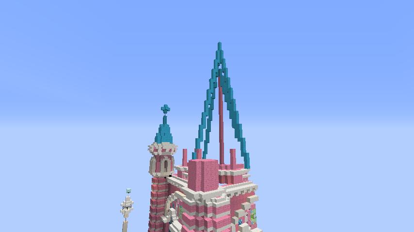 Minecrafterししゃもがマインクラフトでぷっこ村にタンディン教会を再現してみる5