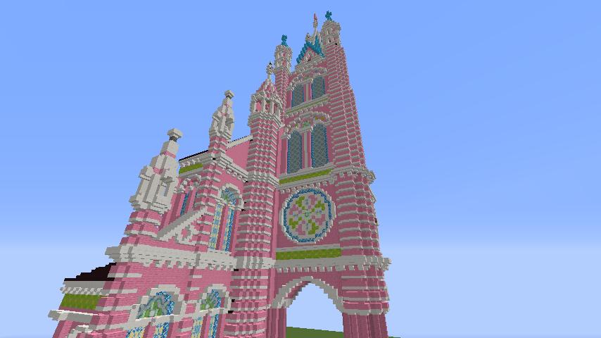 Minecrafterししゃもがマインクラフトでぷっこ村にタンディン教会を再現してみる6