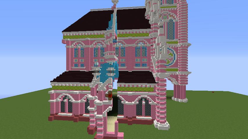 Minecrafterししゃもがマインクラフトでぷっこ村にタンディン教会を再現してみる7