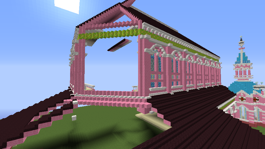 Minecrafterししゃもがマインクラフトでぷっこ村にタンディン教会を再現してみる9