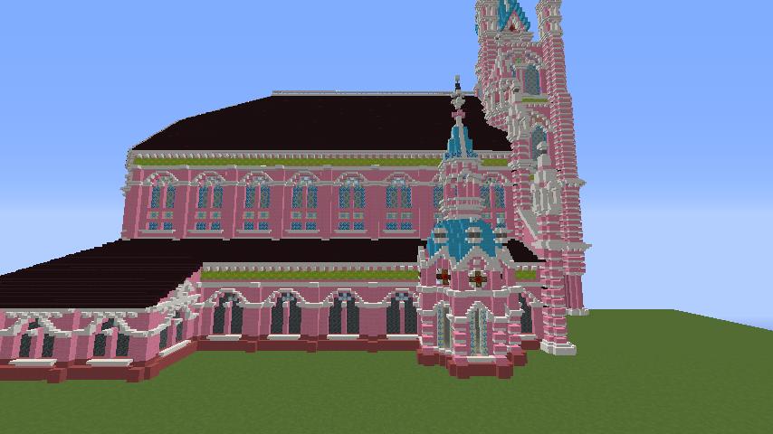Minecrafterししゃもがマインクラフトでぷっこ村にタンディン教会を再現してみる8