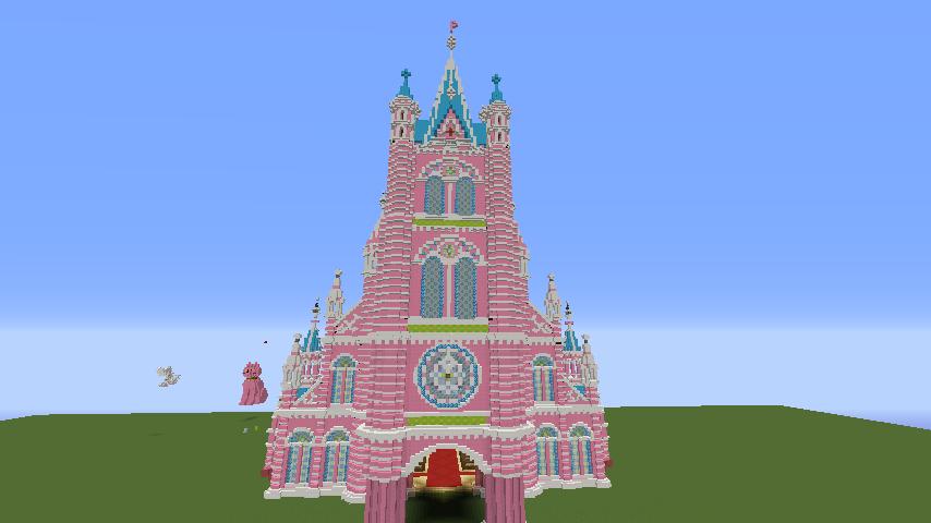Minecrafterししゃもがマインクラフトでぷっこ村にタンディン教会を再現してみる12