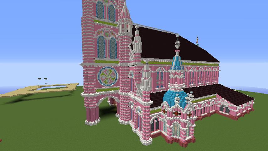 Minecrafterししゃもがマインクラフトでぷっこ村にタンディン教会を再現してみる13
