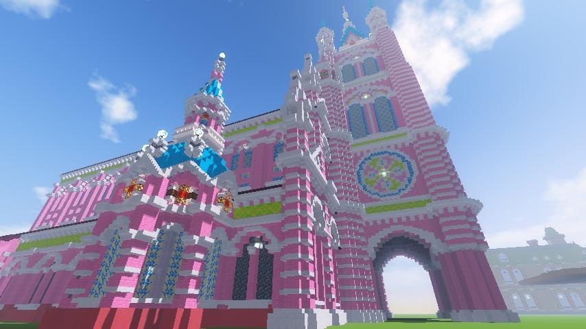 Minecrafterししゃもがマインクラフトでぷっこ村にタンディン教会を再現してみる17