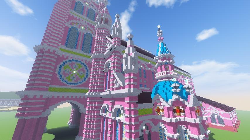 Minecrafterししゃもがマインクラフトでぷっこ村にタンディン教会を再現してみる15
