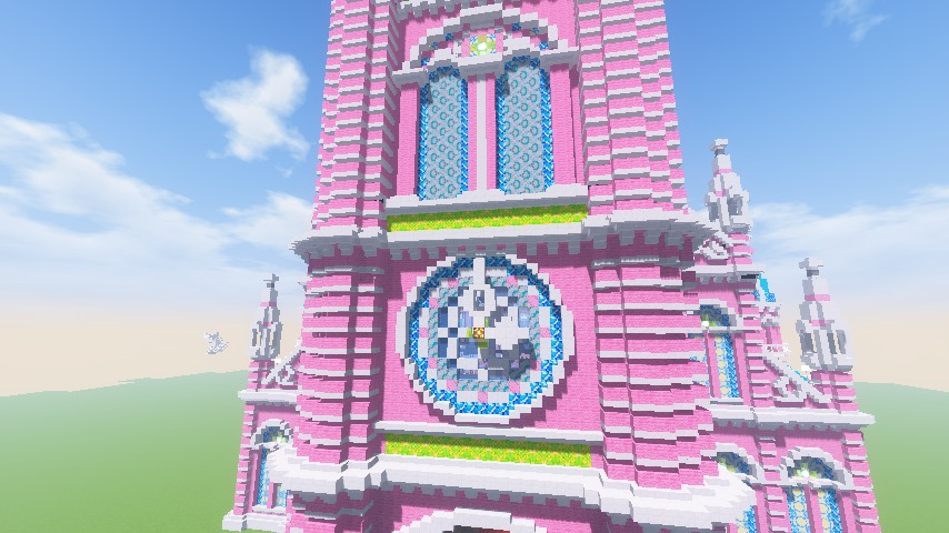 Minecrafterししゃもがマインクラフトでぷっこ村にタンディン教会を再現してみる16