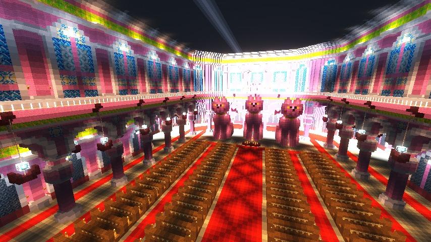 Minecrafterししゃもがマインクラフトでぷっこ村にピンクの教会を移築する16
