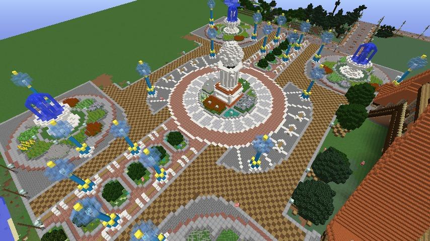 Minecrafterししゃもがマインクラフトでぷっこ村に広場を作る6
