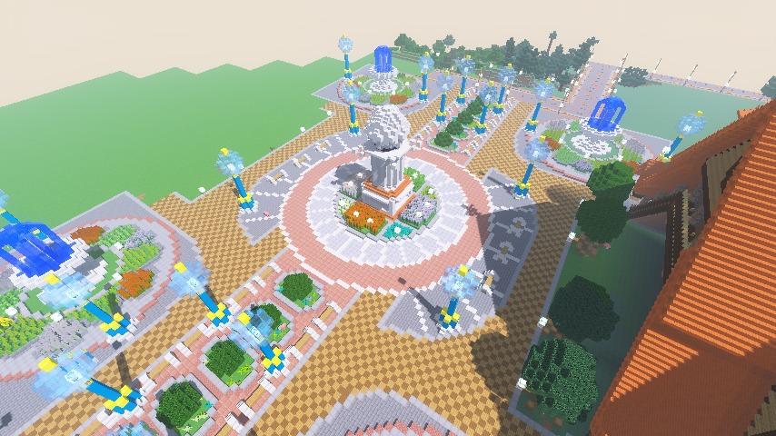 Minecrafterししゃもがマインクラフトでぷっこ村に広場を作る8