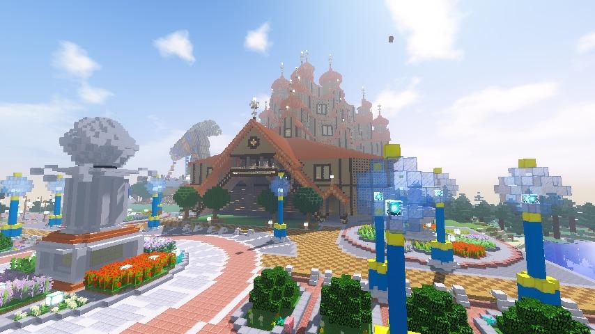 Minecrafterししゃもがマインクラフトでぷっこ村に広場を作る9