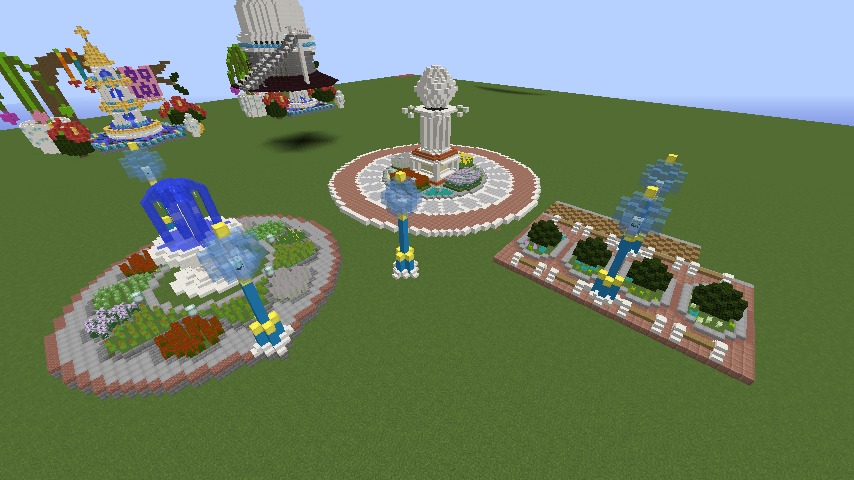 Minecrafterししゃもがマインクラフトでぷっこ村に広場を作る1