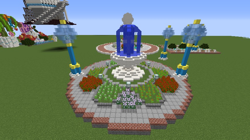 Minecrafterししゃもがマインクラフトでぷっこ村に広場を作る3