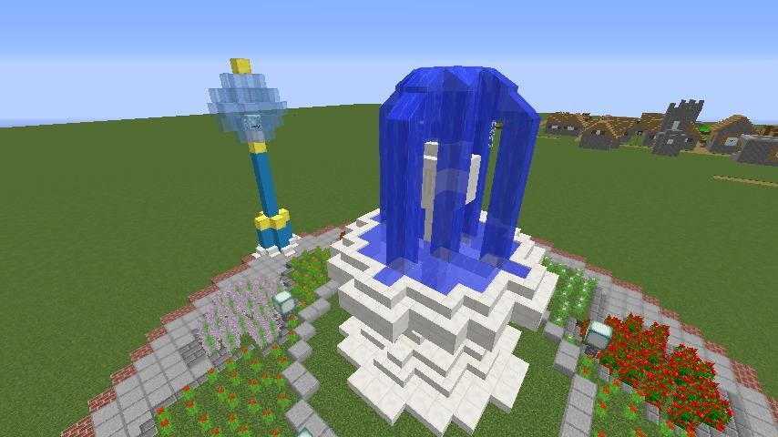 Minecrafterししゃもがマインクラフトでぷっこ村に広場を作る4