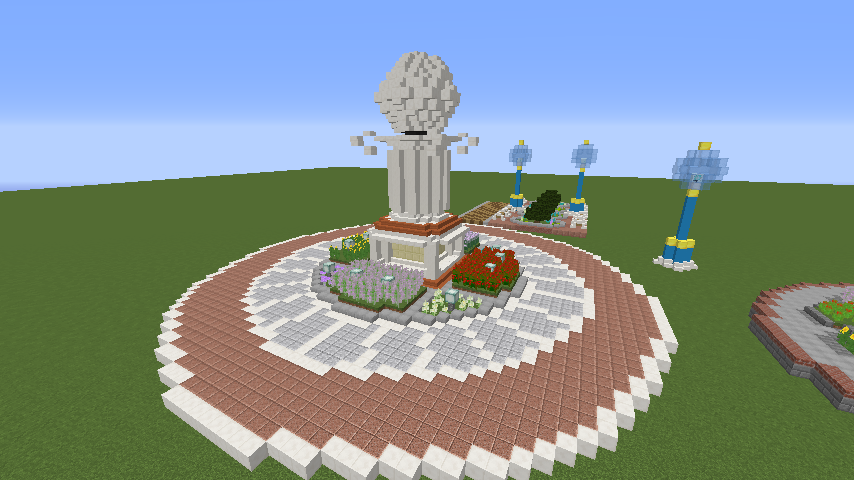 Minecrafterししゃもがマインクラフトでぷっこ村に広場を作る2