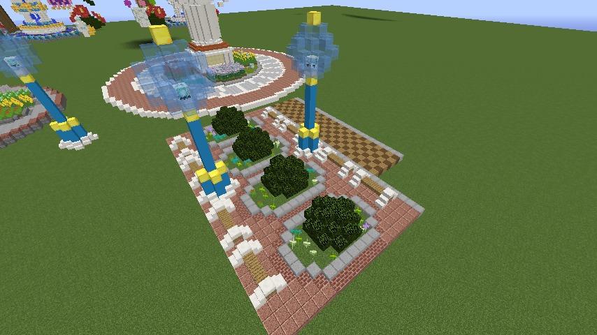 Minecrafterししゃもがマインクラフトでぷっこ村に広場を作る5