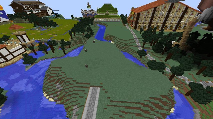 Minecrafterししゃもがマインクラフトでぷっこ村にキャットタワー型の新居を建築する5