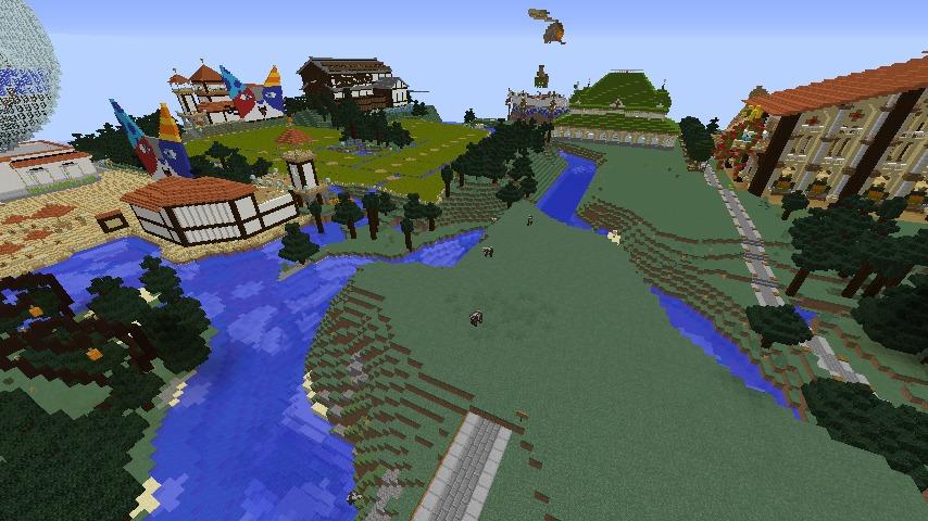 Minecrafterししゃもがマインクラフトでぷっこ村にキャットタワー型の新居を建築する6