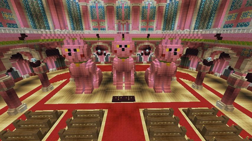Minecrafterししゃもがマインクラフトでぷっこ村にピンクの教会を移築する11