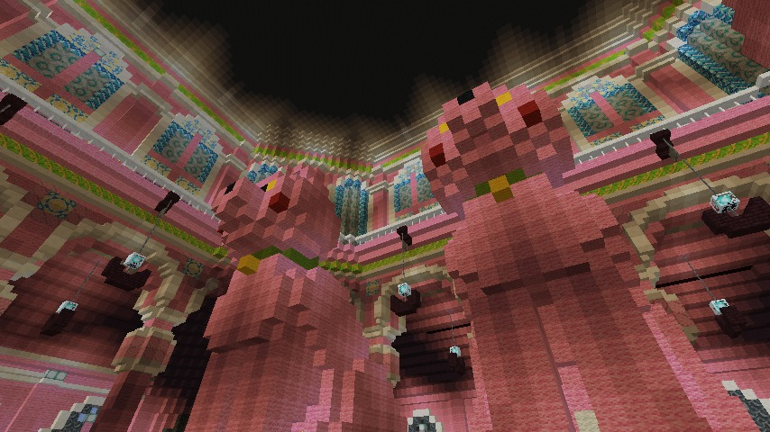 Minecrafterししゃもがマインクラフトでぷっこ村にピンクの教会を移築する12