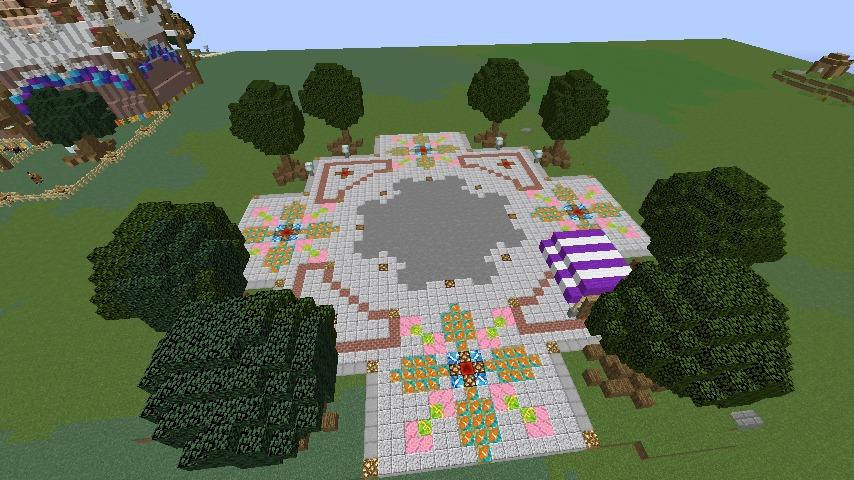 Minecrafterししゃもがマインクラフトでぷっこ村にオシャレな塔っぽいワープポイントを建築する2
