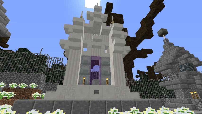Minecrafterししゃもがマインクラフトでぷっこ村にかりうどの夢を作って拠点にする3