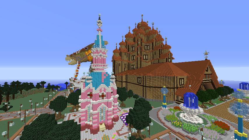 Minecrafterししゃもがマインクラフトでぷっこ村にオシャレな塔っぽいワープポイントを建築する3