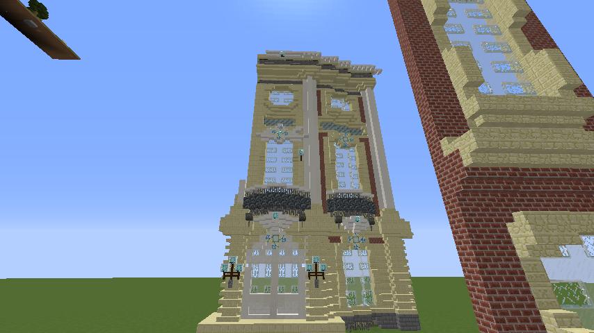 Minecrafterししゃもがマインクラフトでぷっこ村に大学の共通教育棟を作る3