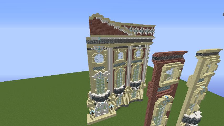 Minecrafterししゃもがマインクラフトでぷっこ村に大学の共通教育棟を作る4