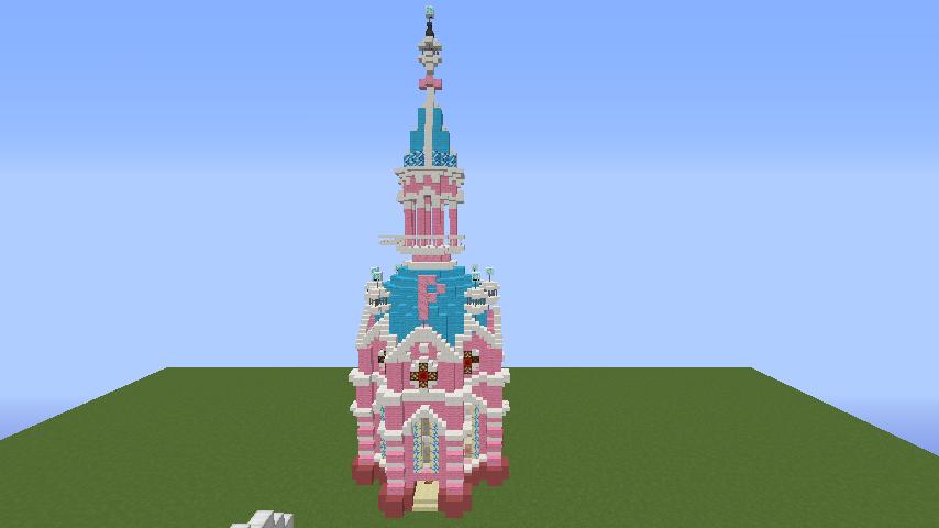 Minecrafterししゃもがマインクラフトでぷっこ村にオシャレな塔っぽいワープポイントを建築する1