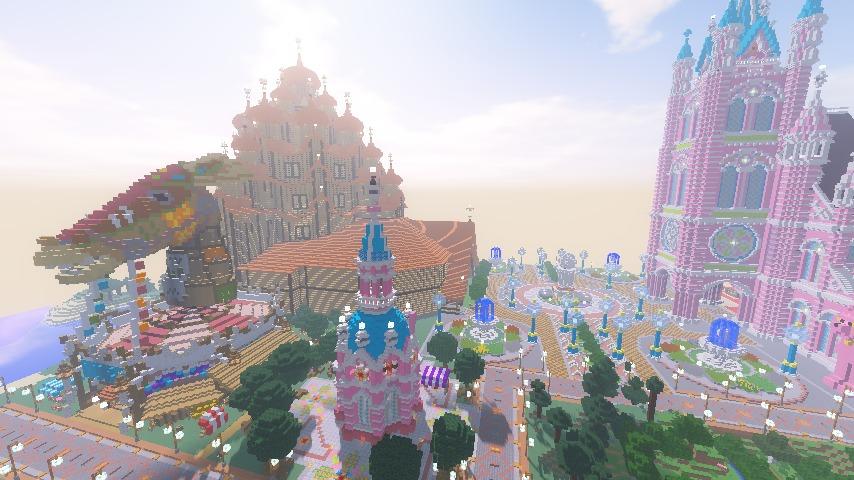 Minecrafterししゃもがマインクラフトでぷっこ村にオシャレな塔っぽいワープポイントを建築する12