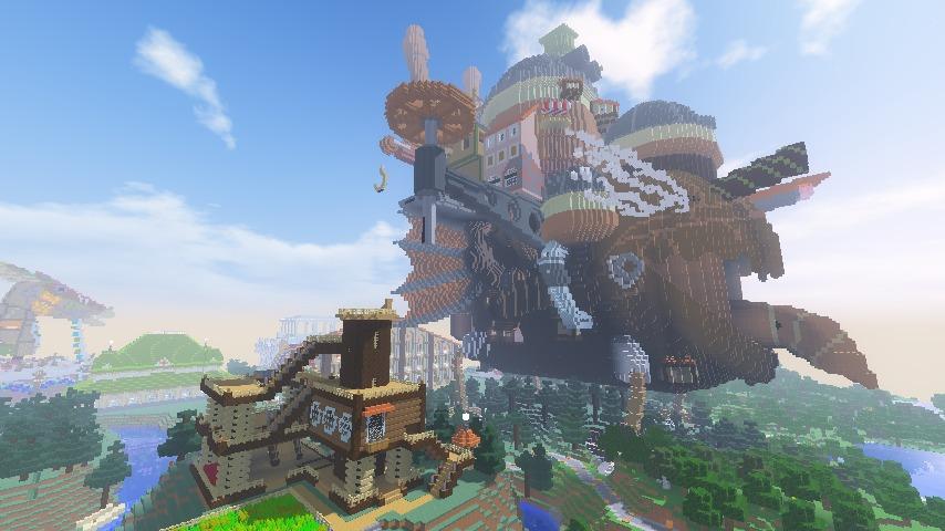 Minecrafterししゃもがマインクラフトでぷっこ村にキャットタワー型の新居を建築する13
