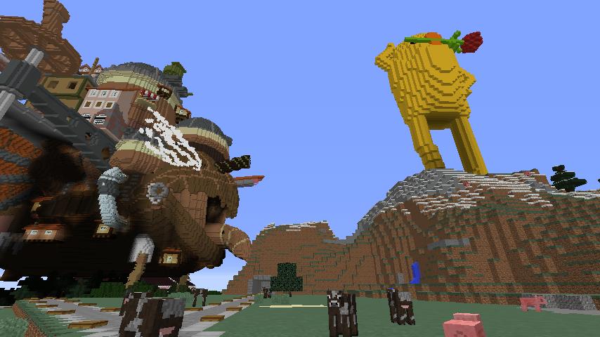 Minecrafterししゃもがマインクラフトでぷっこ村にキャットタワー型の新居を建築する1