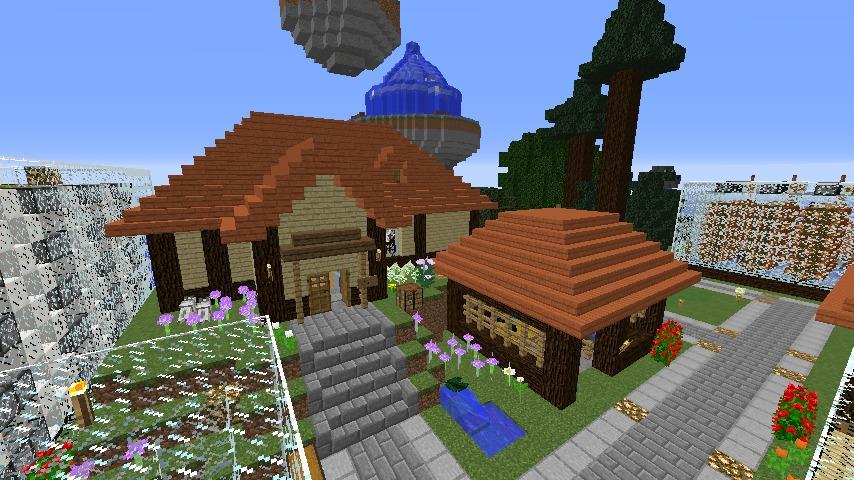 Minecrafterししゃもがマインクラフトでぷっこ村にキャットタワー型の新居を建築する4