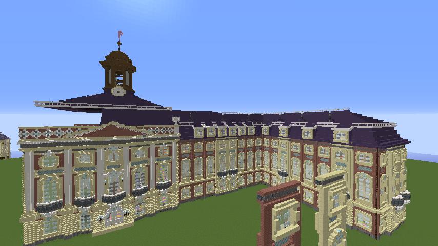 Minecrafterししゃもがマインクラフトでぷっこ村に大学の共通教育棟を作る11