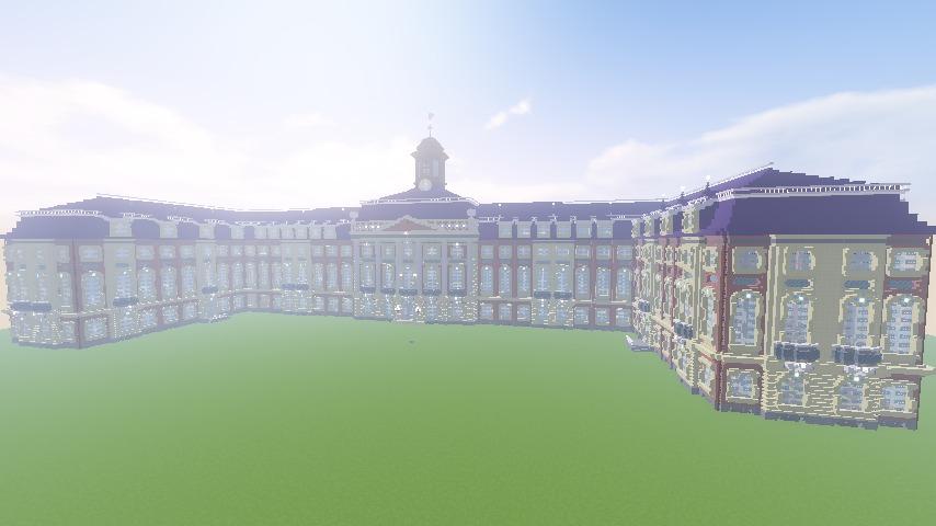 Minecrafterししゃもがマインクラフトでぷっこ村に大学の共通教育棟を作る14