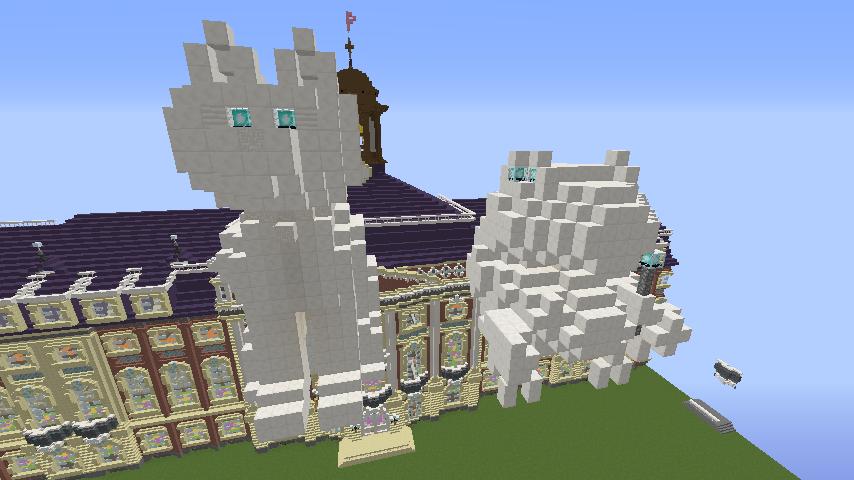 Minecrafterししゃもがマインクラフトでぷっこ村に大学の共通教育棟を作る16