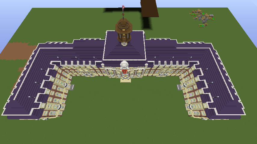 Minecrafterししゃもがマインクラフトでぷっこ村に大学の共通教育棟を作る21