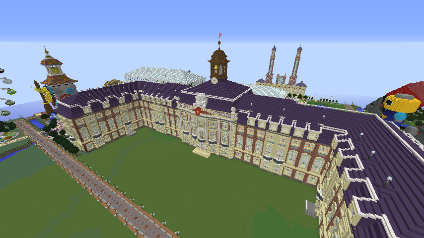 Minecrafterししゃもがマインクラフトでぷっこ村に大学を設立する6