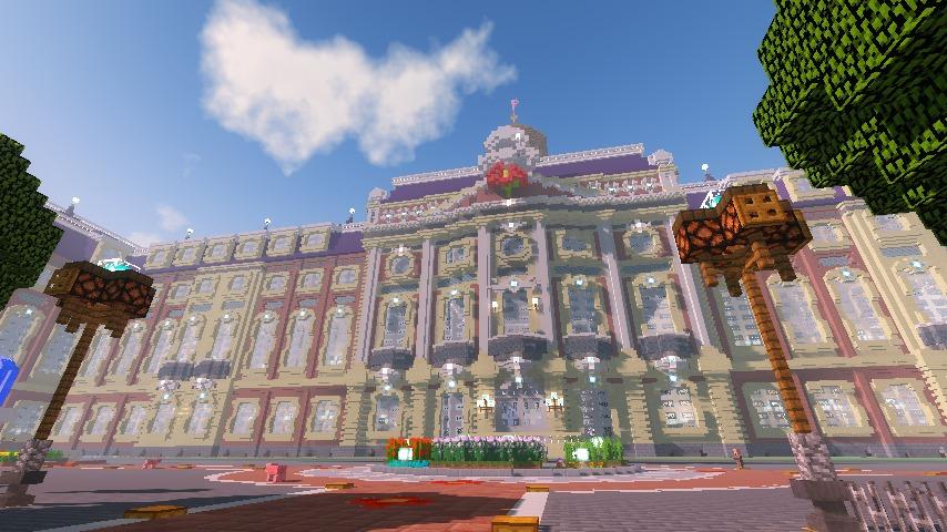 Minecrafterししゃもがマインクラフトでぷっこ村に大学を設立する9