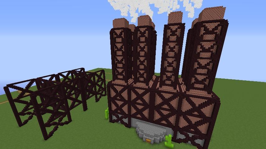Minecrafterししゃもがマインクラフトでぷっこ村に反射炉型のアイアンゴーレムトラップをつくる6