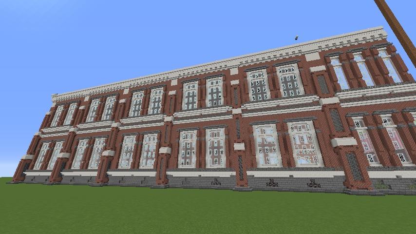 Minecrafterししゃもがマインクラフトでぷっこ村に東京国立近代美術館工芸館を再現建築する5
