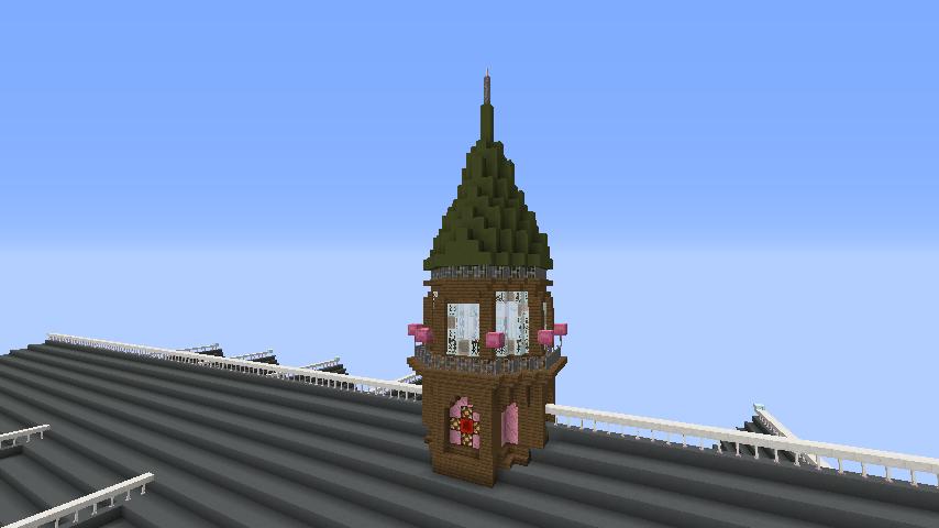 Minecrafterししゃもがマインクラフトでぷっこ村に東京国立近代美術館工芸館を再現建築する8
