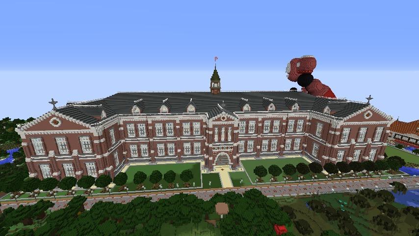 Minecrafterししゃもがマインクラフトで建築した美術館をぷっこ村に移築するよ2
