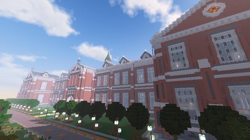 Minecrafterししゃもがマインクラフトで建築した美術館をぷっこ村に移築するよ3