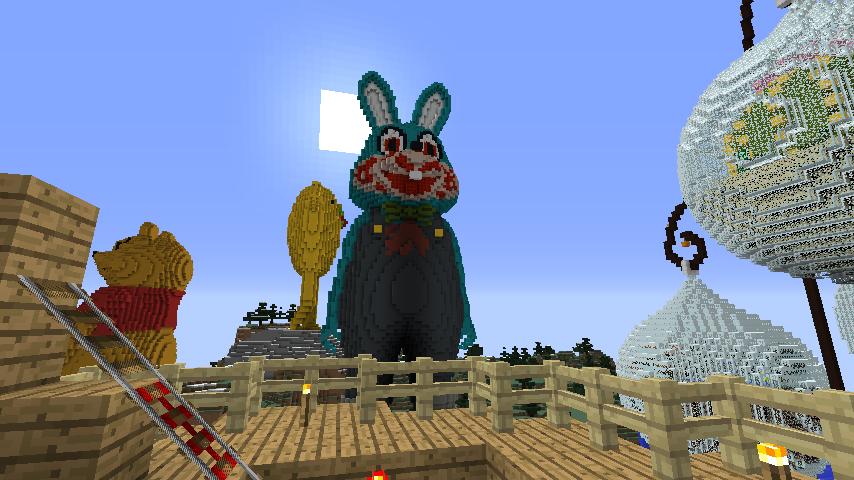 Minecrafterししゃもがマインクラフトでぷっこ村にロビー君を作る16
