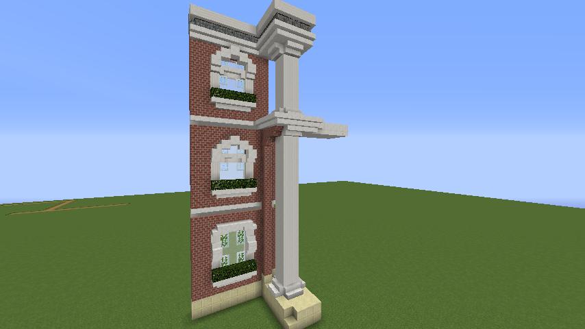 Minecrafterししゃもがマインクラフトでぷっこ村にレンガ造りの村役場を作る3