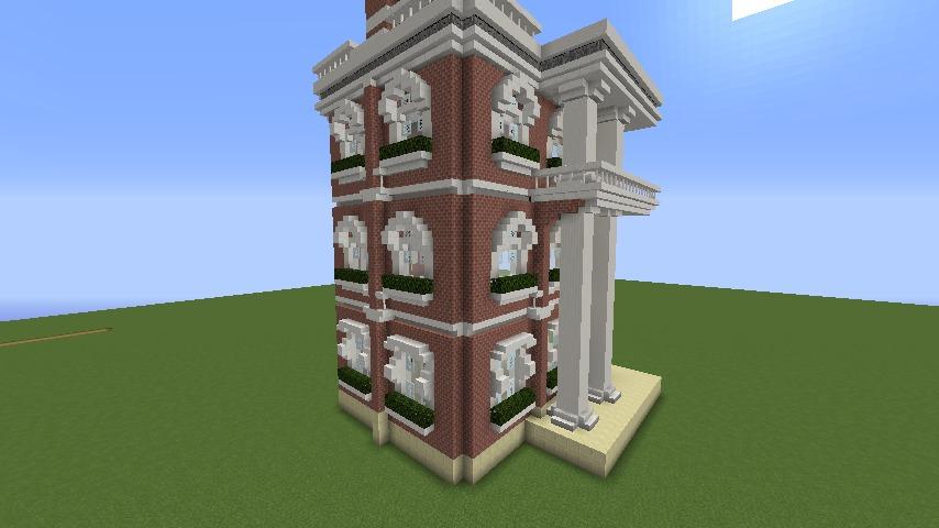 Minecrafterししゃもがマインクラフトでぷっこ村にレンガ造りの村役場を作る4