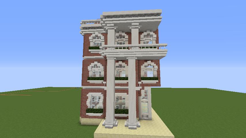 Minecrafterししゃもがマインクラフトでぷっこ村にレンガ造りの村役場を作る5