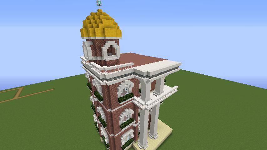 Minecrafterししゃもがマインクラフトでぷっこ村にレンガ造りの村役場を作る6